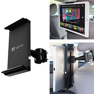 "Car Headrest Mount Holder, Vena HEADTAB [One Hand] Back Seat Car Mount for Apple iPad Air Mini, Chromo Android, Dragon Touch, Samsung Galaxy Tab A E, LeapFrog Epic/LeapPad, Nabi JR (5""-11"" Tablets) - 0031"