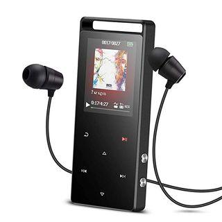 16GB MP3 Player with Bluetooth,AGPTEK A01ST Lossless Sound Metal Music Player with Touch Button,Support FM Radio/Voice Recorder/Pedometer with Earphone Armband for Sport - 0035