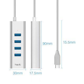 HAVIT T91 USB C to USB 3.0 Hub with TYPE-C PD Female port - 0041