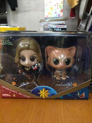 Hottoys Cosbaby Captain Marvel and Goose