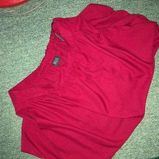 Blood Red Plain Skirt