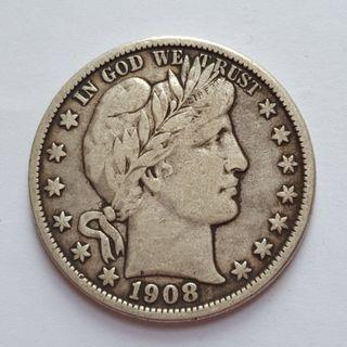USA 1908 O Berber Half Dollar Silver Coin