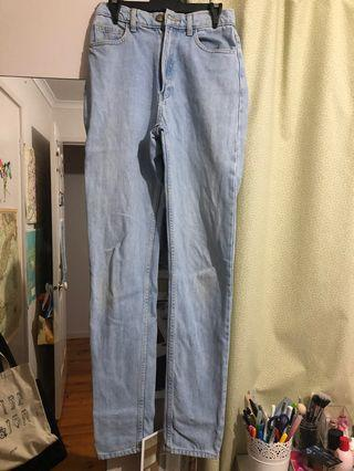 American apparel mom jeans