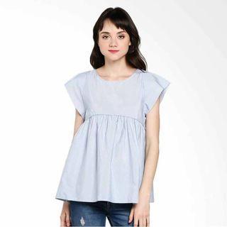 Rodeo Motif Blouse Shirt - Blue