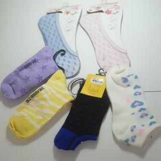 【全新 12H出貨 】   女用襪  6雙合售 請詳見圖片