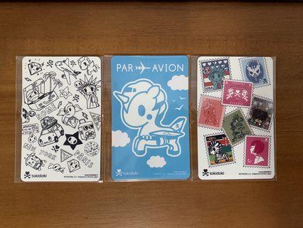 Tokidoki EZ-Link cards - 3 piece bundle