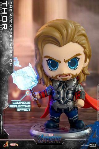 全新現貨 可散賣 Hot toys cosbaby 4隻 雷神 thor,美國隊長 captain american ,綠巨人 hulk,rescue Avengers endgame