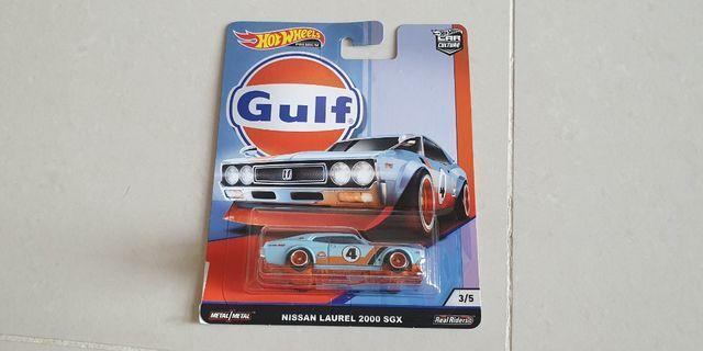 HOTWHEELS PREMIUM CAR CULTURE METAL REAL RIDERS NISSAN LAUREL 2000 SGX GULF