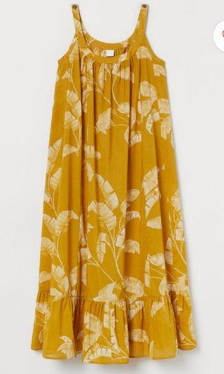 Yellow Patterned Dress