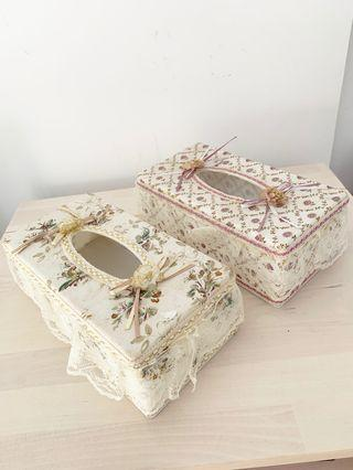 Beautiful floral lace tissue box (2 for $18)
