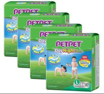 Petpet day night pants Diapers pull up - L (9-14kg)