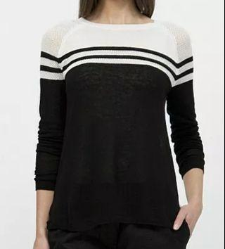COUNTRY ROAD Raglan Stripe Knit Jumper Size L