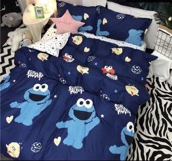 Bedsheet Set Cookie Monster blue