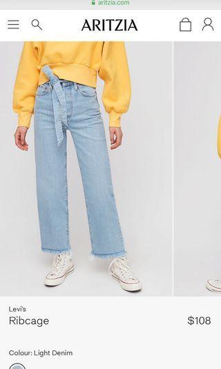 Aritzia Levi Rib cage jeans