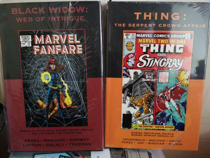 🚚 Marvel Classic Premier Limited Editions Black Widow Web of Intrigue and Serpent Crown affair Marvel 2 in 1Thing George Perez