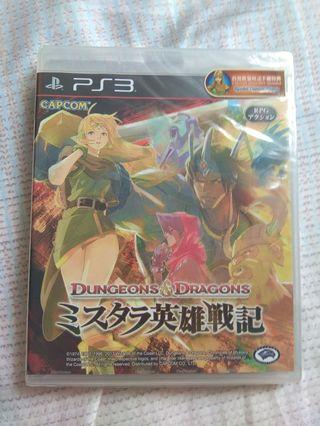 PS3 Dungeons and Dragons 英雄戰記 (全新品 可四打)