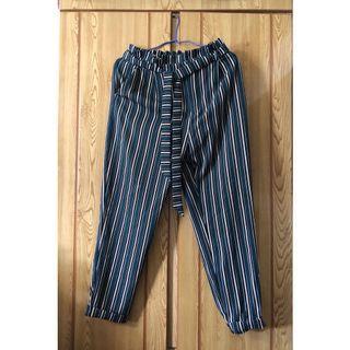 🚚 條紋寬褲