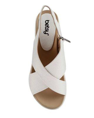 Pearl white sandals