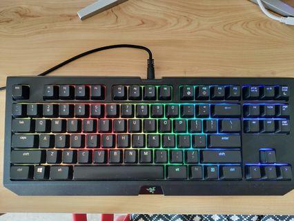 Razer Blackwidow Chroma v2 Tournament Edition Orange Switches. 90% new