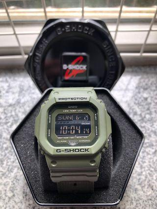 G-shock手錶 Casio G-shock GLS-5600CL 5600 series 軍綠