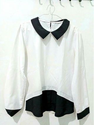 White Black Blouse #mauthr