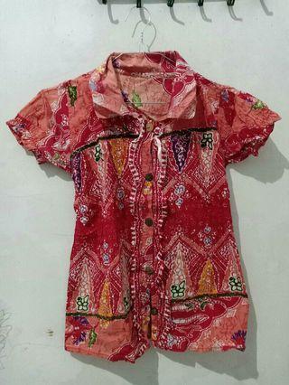 Batik Orange motif #mauthr #ramadanbermanfaat