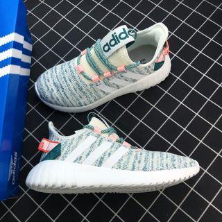"""Adidas Tubular Doom Sock Pk小椰子好動系列針織套腳百搭休閑輕跑鞋""""白灰雪花深綠橘"""""""