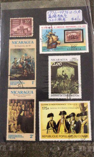 Old Stamps x 6