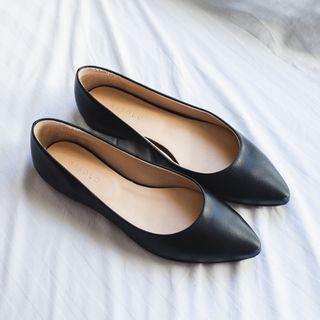 Nisolo Ava Ballerina Flat (Black, Size 7)