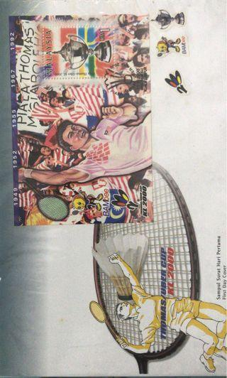 Thomas/Uber Cup KL 2000 first day covers