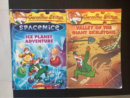 🚚 Geronimo Stilton - valley of the giant skeletons / spacemice Ice planet adventure