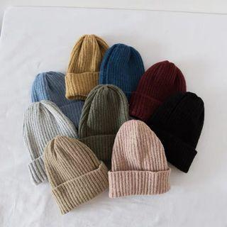 Winter blue knit beanie