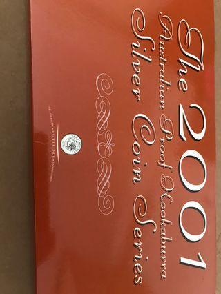 2001 Australian Silver Proof Kookaburra Coin set  Evolution of Calender Series
