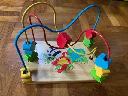 Brand New ELC Montessori Wooden Bead Frame
