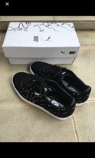 Authentic Puma Select X Shantell Martin Black and White Sneakers