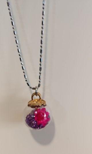 紫石花花頸鏈