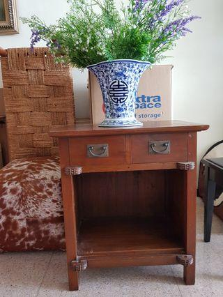 🚚 Wooden Bedside Table
