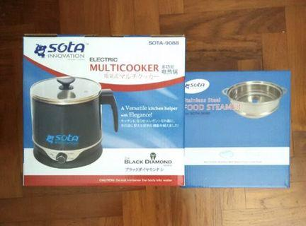 (USED) Sota electric multicooker + food steamer