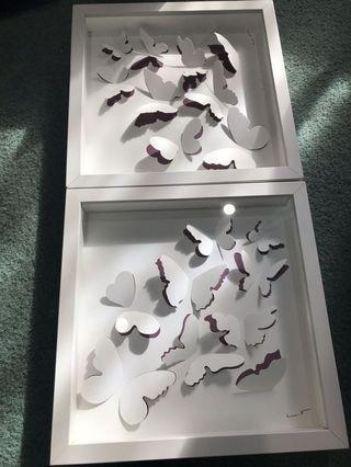 3D butterfly frames