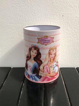 #mauthr Barbie Princess and the Pauper tempat pensil kaleng serbaguna ori Mattell