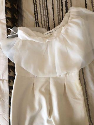 White Jampsuit pesta party wedding birthday
