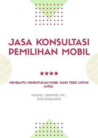 Jasa Konsultasi Pemilihan Mobil