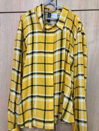 🚚 Yellow Checkered Blouse
