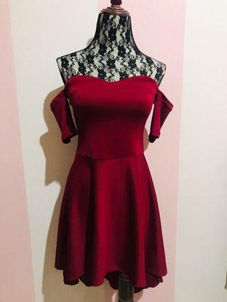 Red Long Back Fancy Dress