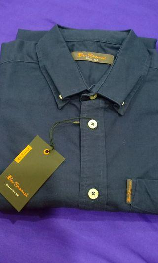 Ben Sherman Long Sleeve Shirt Navy Blue