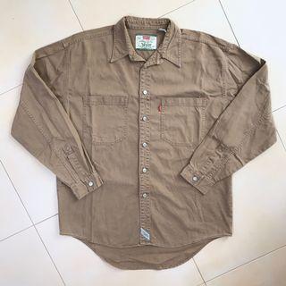 Levi's Denim Brown Workwear Long Sleeve Shirt