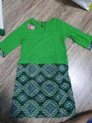 Green Baju  Kurung