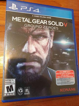 Metal gear solid v ground zeroes ps4 game