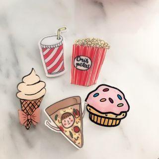 Food & Cute Pin Badge Brooch ‼️5 FREE 1‼️