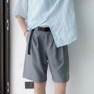 西裝材質休閒褲 黑色 灰色